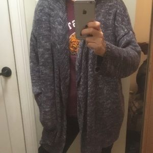 JOIE linen and rayon open sweater